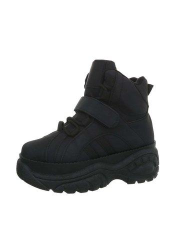Neckermann dames hoge sneakers zwart 90011