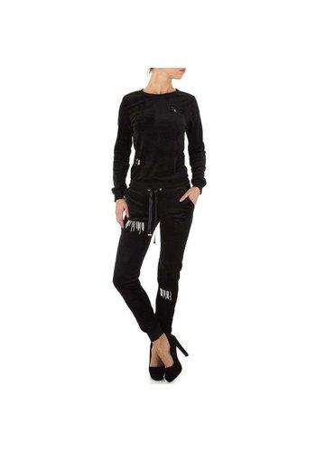 Neckermann dames joggingpak zwart KL-WJ-7962