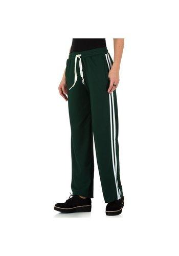 HOLALA pantalon pour femme vert foncé KL-BFLG18134