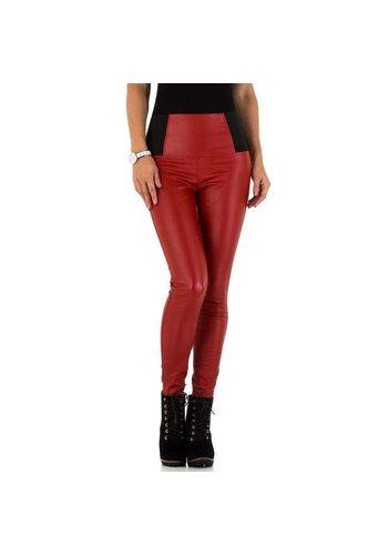Neckermann pantalon pour femme rouge KL-DP1098