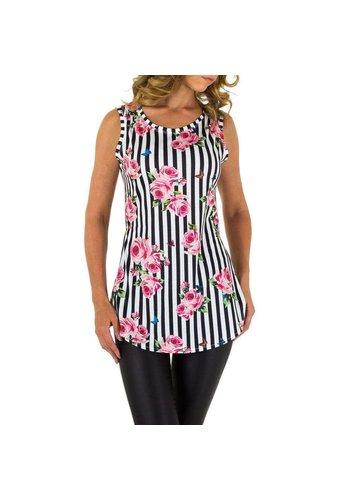 EMMA&ASHLEY lange Bluse pink / schwarz KL-WJ-8212