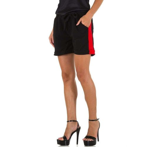 HOLALA dames kortebroek zwart/rood KL-BF68851