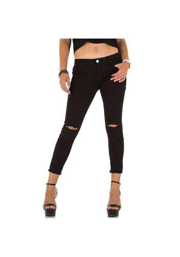 Mozzaar dames jeans zwart KL-J-C849