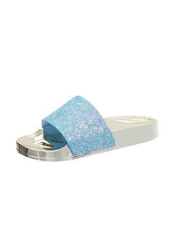 Neckermann dames slipper blauw 908-2