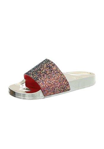 Neckermann dames slippers rood 908-2