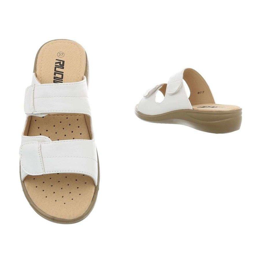 sandales femmes blanches 88-31