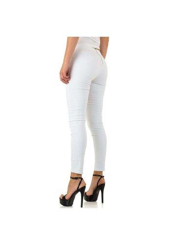 Neckermann dames jeans wit KL-J-92810