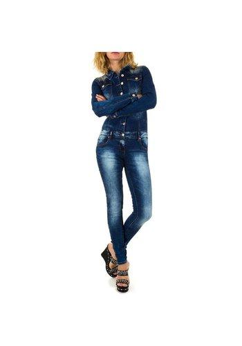 Neckermann Damenoverall Jeans blau
