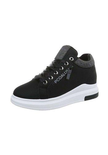 Neckermann dames hoog sneakers zwart