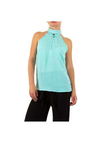 Neckermann dames blouse blauw
