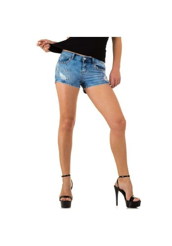 Neckermann dames korte spijkerbroek  blauw realtyjeans