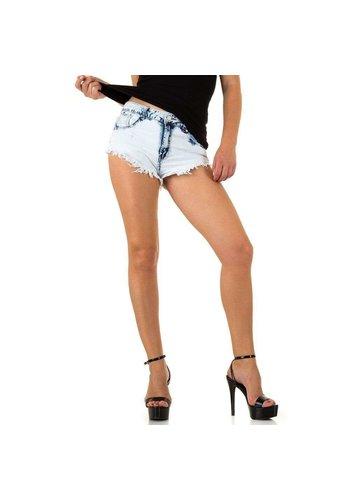 Neckermann Short femme par Realty Jeans - blanc bleu