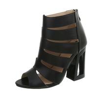 Chaussure ouverte femme avec talon noir