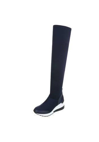 Neckermann Dames-over-de-knie laarzen - blauw