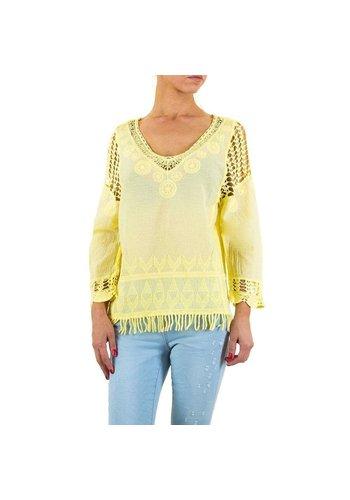 Neckermann Dames blouse-of-zo-Sweet-geel