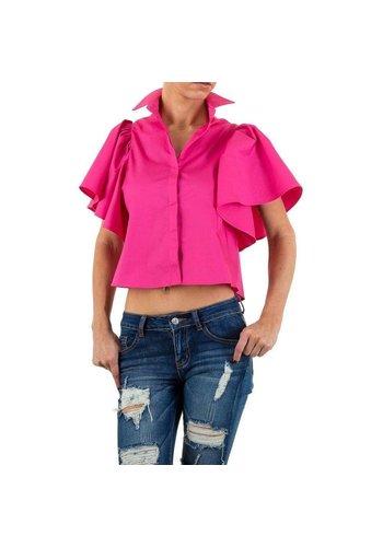 Neckermann Damen Bluse von Shk Mode - fuchsia