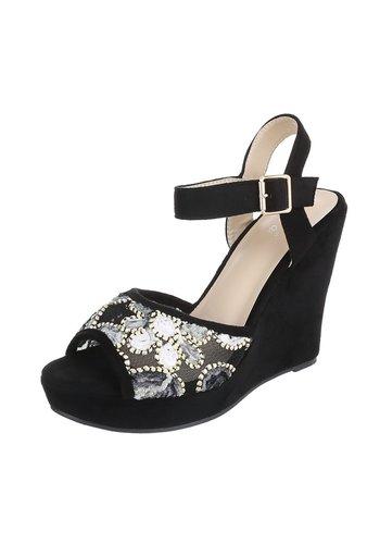 Neckermann Dames Open schoen met sleehak  - zwart
