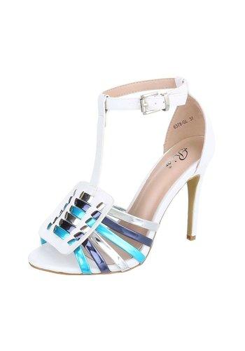 Neckermann Chaussure ouverte femme avec talon blanc
