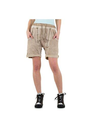 BLUE RAGS Dames shorts van Blue Rags - beige