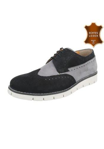 Neckermann Leren heren casual schoenen van COOLWALK-blackgrey