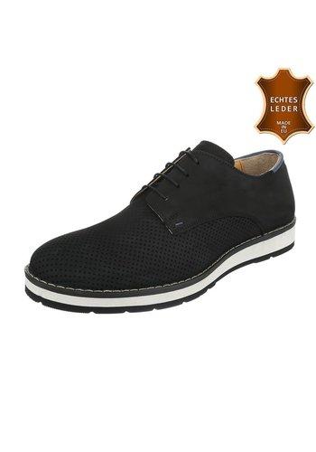 Neckermann Chaussures décontractées en cuir pour hommes par COOLWALK-black