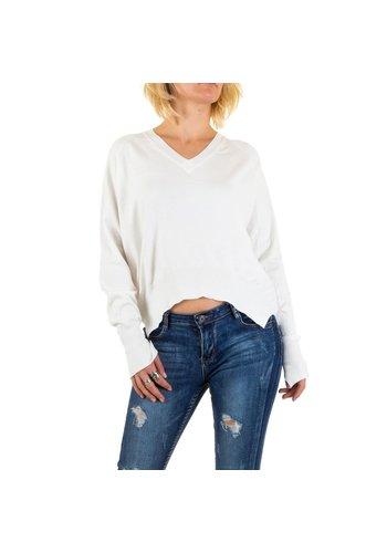 Neckermann Damen Pullover von Jcl Paris - white