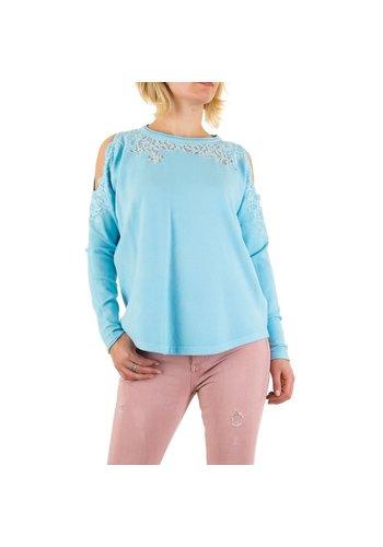 Neckermann Dames Sweater Gr. een maat - blauw