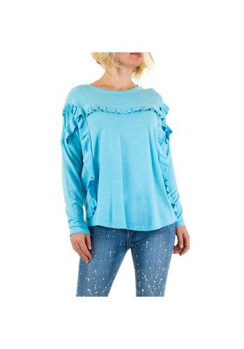 Neckermann Dames Sweatshirt Gr. een maat - blauw