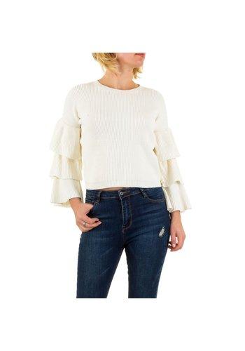 Neckermann Dames Sweater Gr. een maat - wit