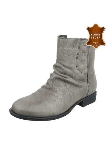 Neckermann Bottines en cuir pour dames - gris