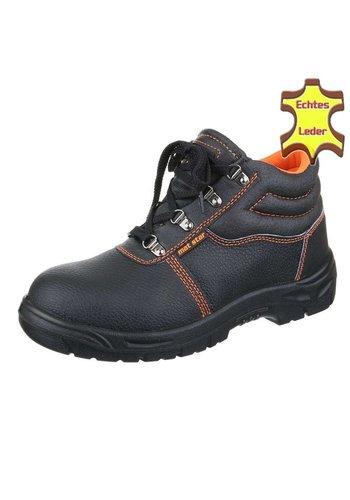 Neckermann Chaussures de sécurité en cuir pour hommes - noir