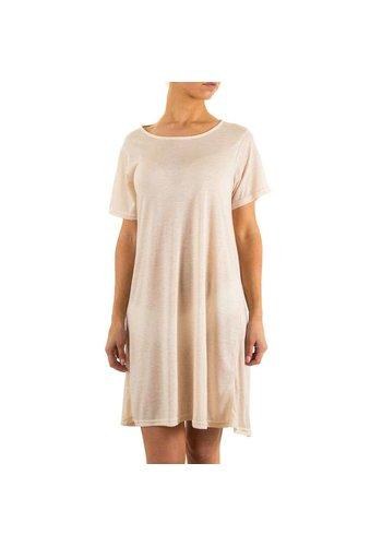 JCL Ladies Dress by Jcl - crème