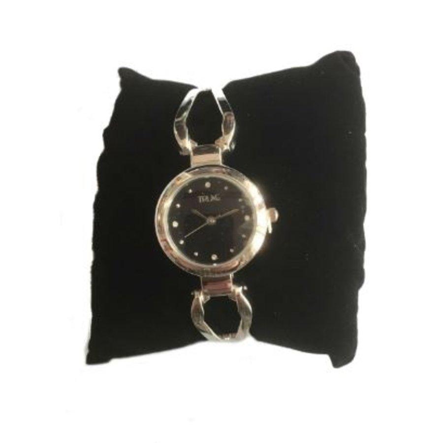 Dameshorloge - rvs - quartz - zwart