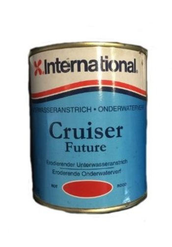 International Peinture sous-marine - Cruiser Future - Rouge - 750 ml