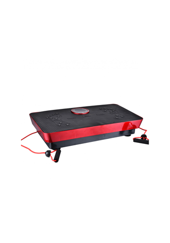FitnessPro Fitness Body Magnetfeldtherapie Vibrationsplatte + Musik 73cm (Schwarz-Rot)