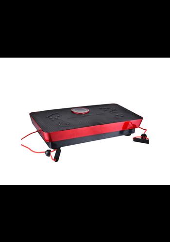 FitnessPro Plaque de Vibration pour Thérapie Magnétique Body Fitness + Music 73cm (Noir-Rouge)