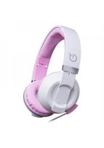 HIDITEC  COOL KIDS Headband Binaural Wired Pink, casque mobile blanc