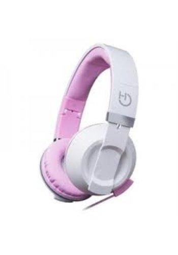 HIDITEC  COOL KIDS Stirnband Binaural Wired Pink, Weißes mobiles Headset