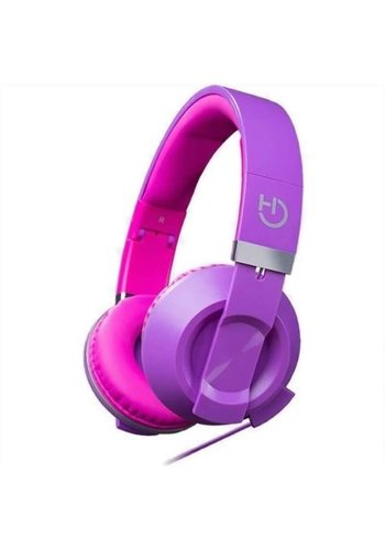HIDITEC  COOL KIDS Headband Binaural Wired Pink, casque violet pour portable