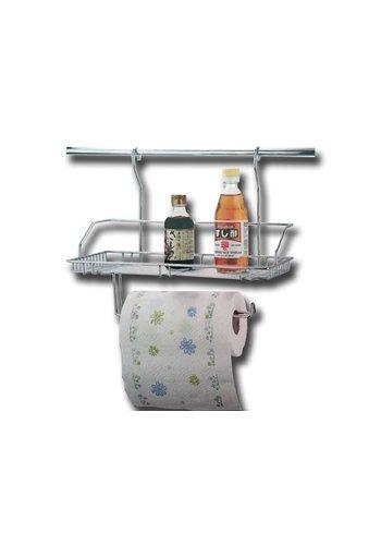 Kaiserhoff Porte-rouleau de cuisine avec support de rangement