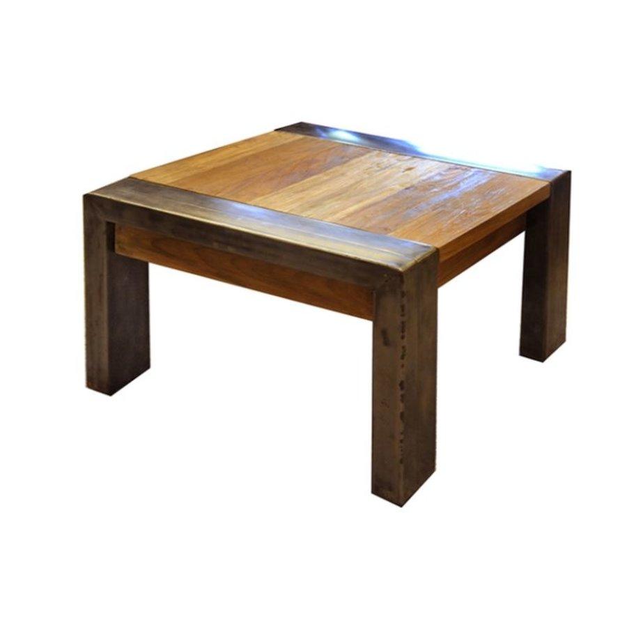 Koffietafel - teak hout - 45x60x60 cm