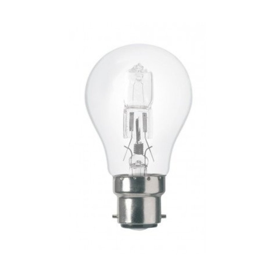 Energiesparende Halogenlampe B22 A55 53W