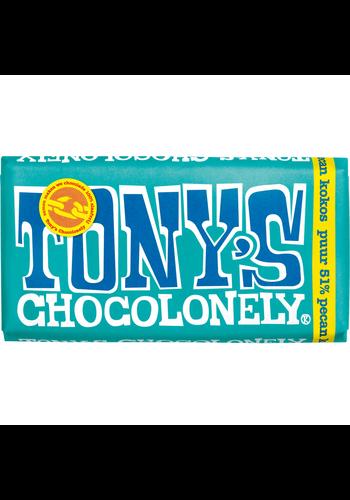 Tony's Chocolonely Puur 51% pecan-kokos - 180g