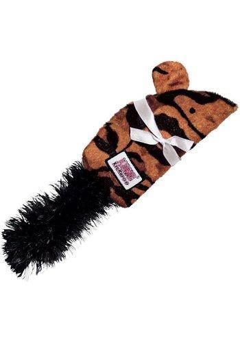Kong Kickeroo patroon tijger- bruin - 23 cm