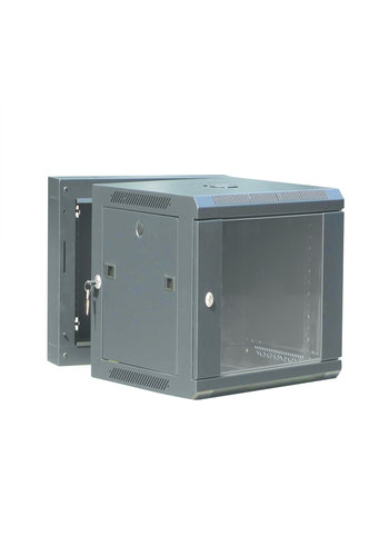 Gembird 19' double sectioned wall mounted rack metal enclosure 12U