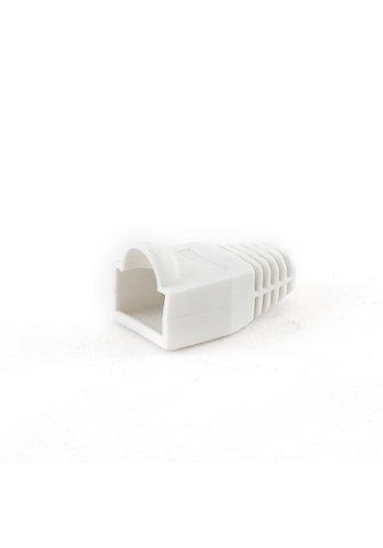 Cablexpert Strain relief (boot cap), white, 100 pcs per bag