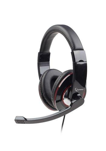 Gembird Headset Glossy Zwart USB