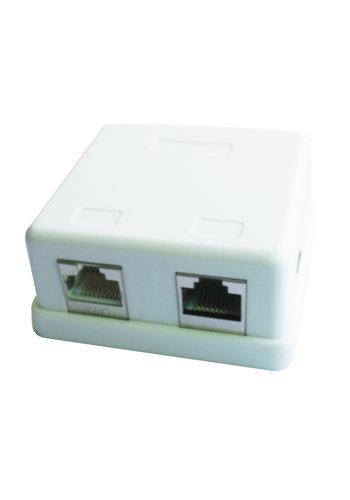 Cablexpert 2-poorts LAN opbouwdoos, grootverpakking
