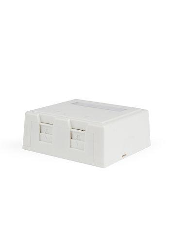 Cablexpert Two jacks surface mount box with cat. 5e keystone jacks