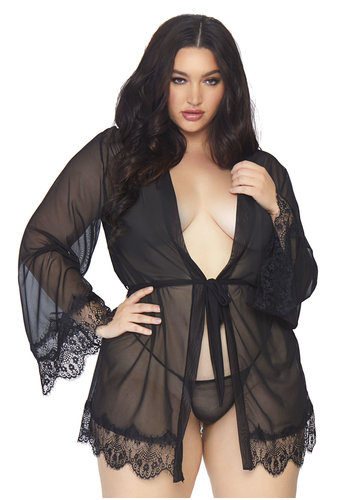 Leg Avenue Short robe, tie & string +